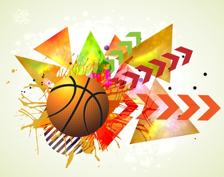 basketball advertising poster. Stock Illustratie