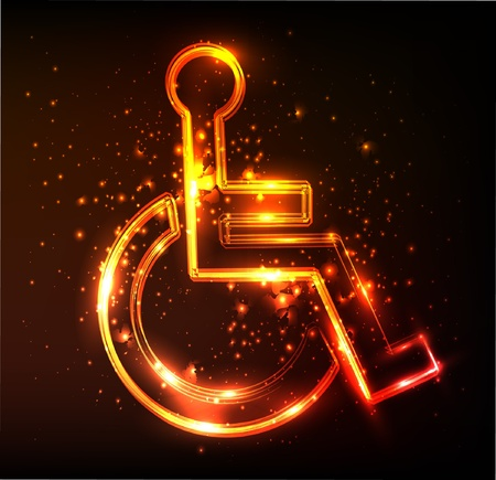 handicapped: disabled sign Illustration