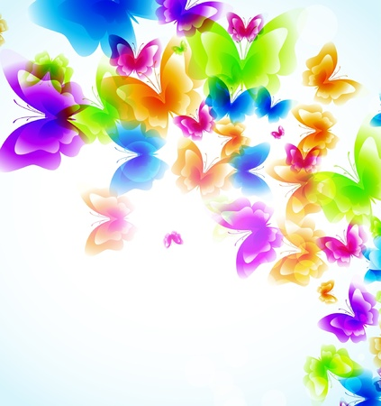 Colorful background with butterfly Stock Vector - 9842713