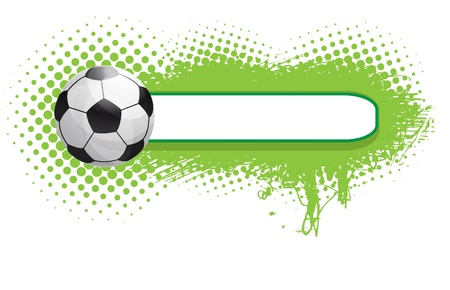grunge football background Stock Vector - 9842619