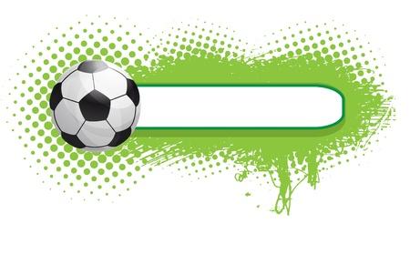 grunge voetbal achtergrond Stock Illustratie