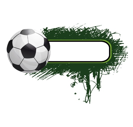 grunge football background Stock Vector - 9842613