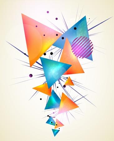Abstrakte geometrische Formen Standard-Bild - 9842748