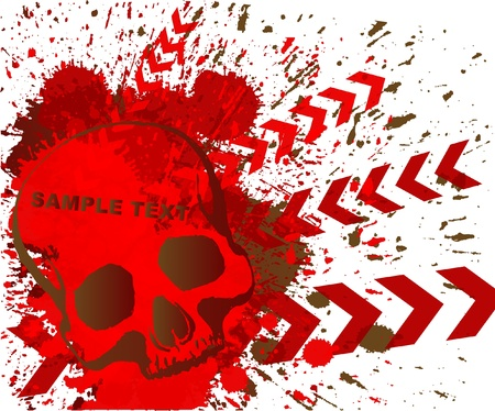 skull grunge background Stock Vector - 9842758