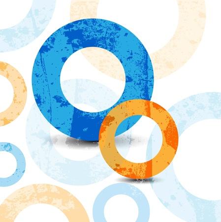 Conception graphique de haute technologie abstraite des cercles de fond Banque d'images - 10045310