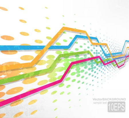 Abstract rainbow wave line for design