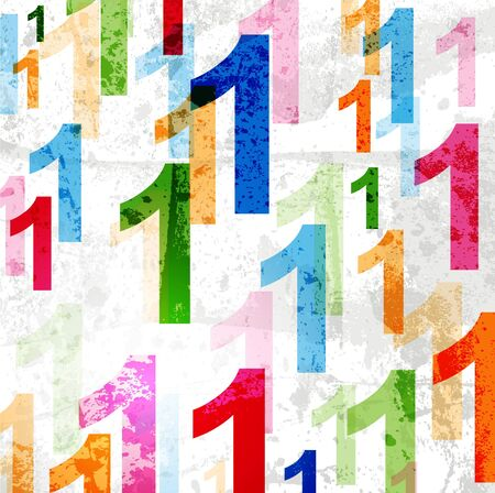 numbers abstract: Abstract background with colorful rainbow numbers for design
