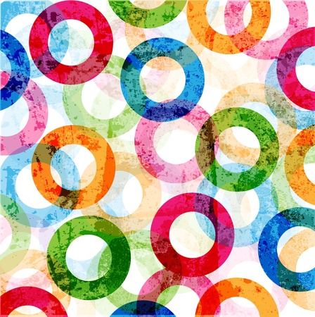 Abstract high-tech graphic design circles pattern background Vector