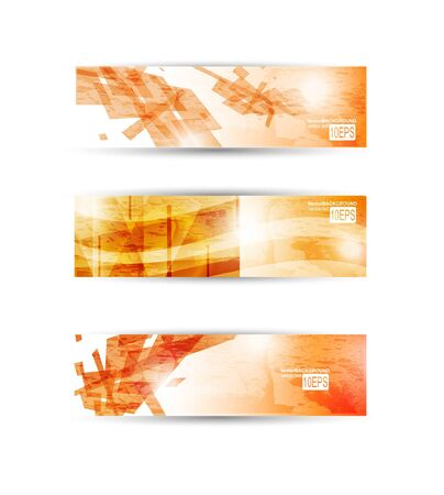 website header: Set of abstract modern header banner for business flyer or website
