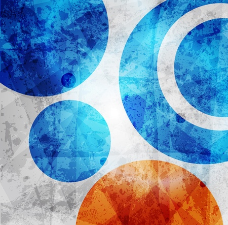 grunge banner: Abstract high-tech graphic design circles pattern background