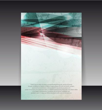 flyer background: Flyer of Cover Design. Folder ontwerp content achtergrond. Stock Illustratie