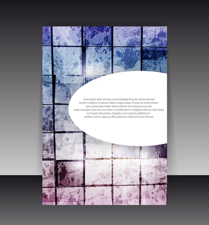 Flyer oder Cover-Design. Ordner-Design Inhalt Hintergrund. Standard-Bild - 10045350