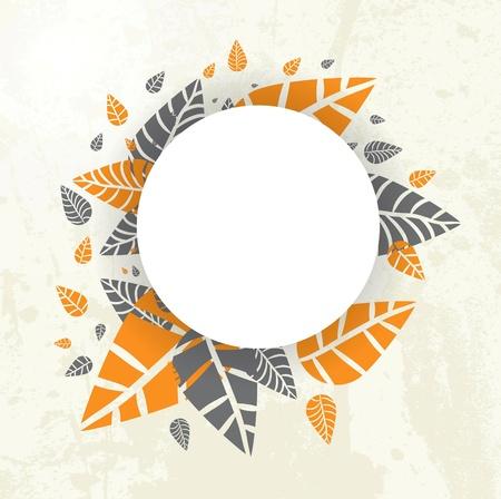 Осень-осень фон листья, падающие на свой собственный дизайн Иллюстрация