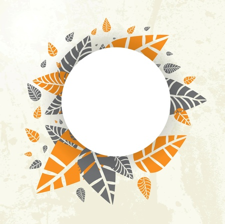 Autumn Background-Autumn Leaves Falling for your own design Illustration