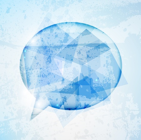 brand new: Abstract glossy speech bubble background