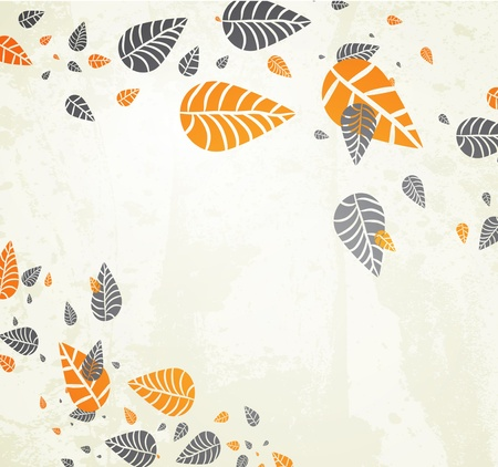 Autumn Background-Autumn Leaves Falling for your design Vector