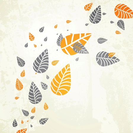 Autumn Background-Autumn Leaves Falling for your own design Vettoriali