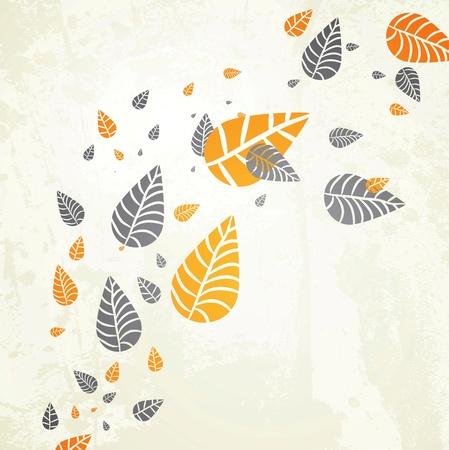 Herfst achtergrond-herfst bladeren vallen voor je eigen ontwerp Stock Illustratie