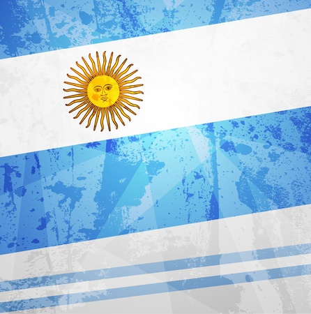 Abstract pattern for design. Retro paper background. flag of Argentina Vector