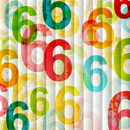 Abstract background with colorful rainbow numbers for design Vector