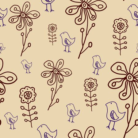 floral seamless pattern Stock Vector - 10119662