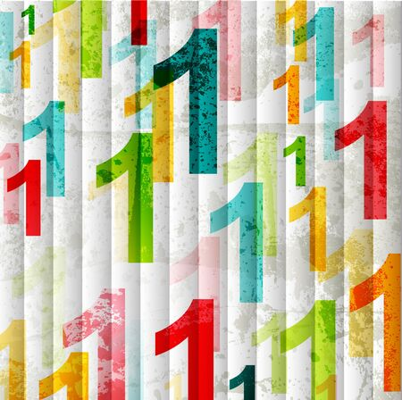 Abstract background with colorful rainbow numbers for design Stock Vector - 10120321