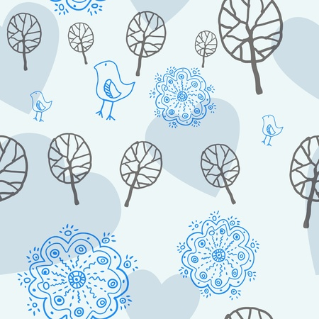floral seamless pattern Ilustração