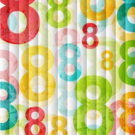 Résumé de fond avec des numéros colorés arc pour la conception Banque d'images - 10120322
