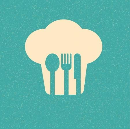 talher: menu do restaurante poster retro Ilustra��o
