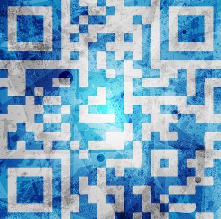qr code background Stock Vector - 10120060