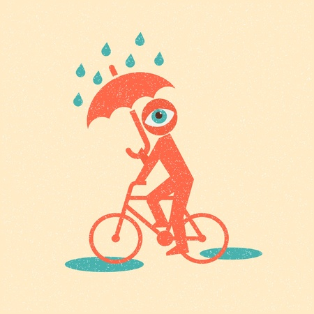 Cyclist. Retro poster