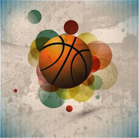 Affiche de la publicité de basket-ball. Illustration vectorielle Banque d'images - 10271091