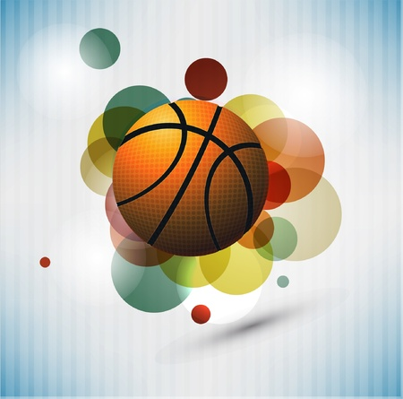 with illustration: Basketball Advertising poster. Vector illustration Illustration