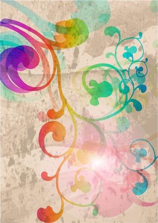 modern: Stylish floral background Illustration