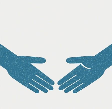 teamwork hands: hand shake Illustration