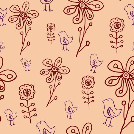 floral seamless pattern Stock Vector - 10271054