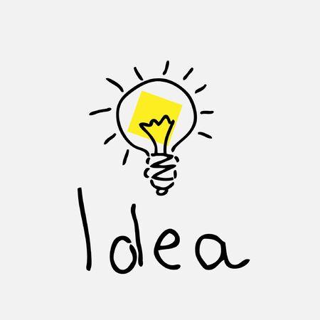 bulb drawing Vector