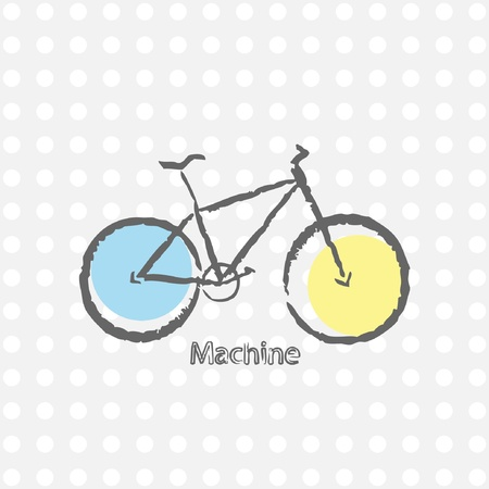 antiquated: old  bicycle retro background