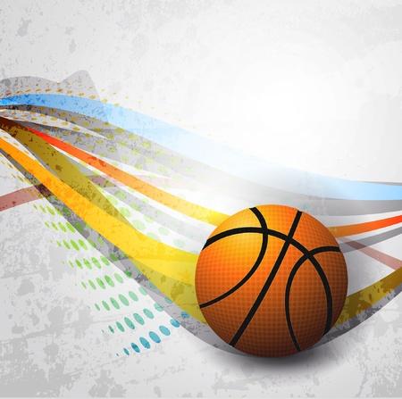 ballon basketball: Affiche de la publicit� de basket-ball. Illustration vectorielle