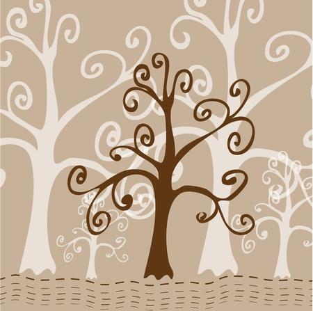 Carte d'arbre stylisées Banque d'images - 10271043