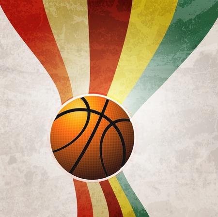 Basketball Advertising poster. Vector illustration Çizim