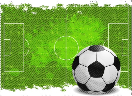 Voetbal ontwerp achtergrond Stock Illustratie