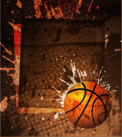 Affiche de la publicité de basket-ball. Illustration vectorielle Banque d'images - 10271100