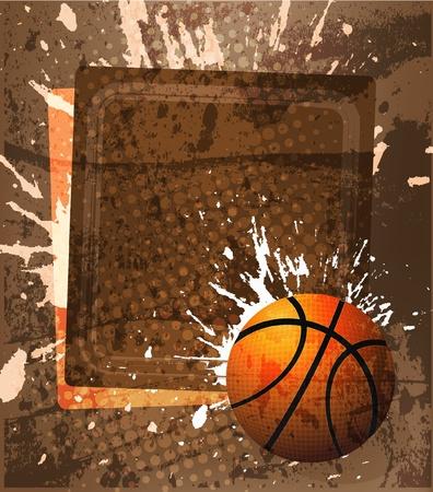 baloncesto: Cartel de publicidad de baloncesto. Ilustración vectorial