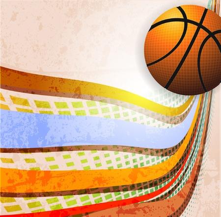 Affiche publicitaire de basket-ball. Vector illustration Banque d'images - 10271076