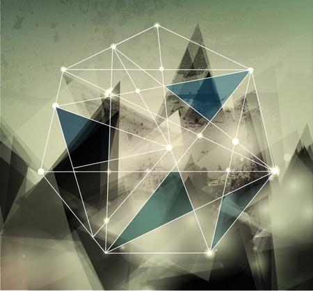 футуристический: абстрактного фона вектор