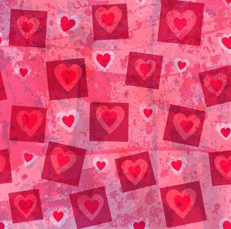 Grunge harten vector achtergrond