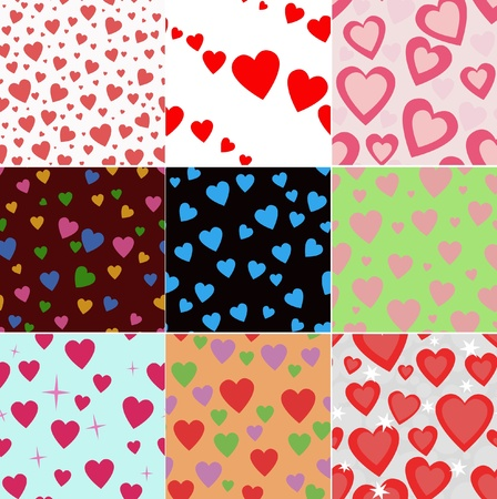 valentine seamless hearts pattern Stock Vector - 10290051