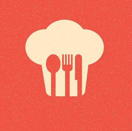couteau fourchette cuill�re: affiche le menu du restaurant r�tro