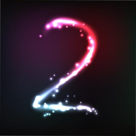 numbers: glowing numbers